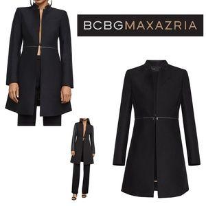 NWT BCBGMAXAZRIA ARELIA Black A-line Jacket Coat
